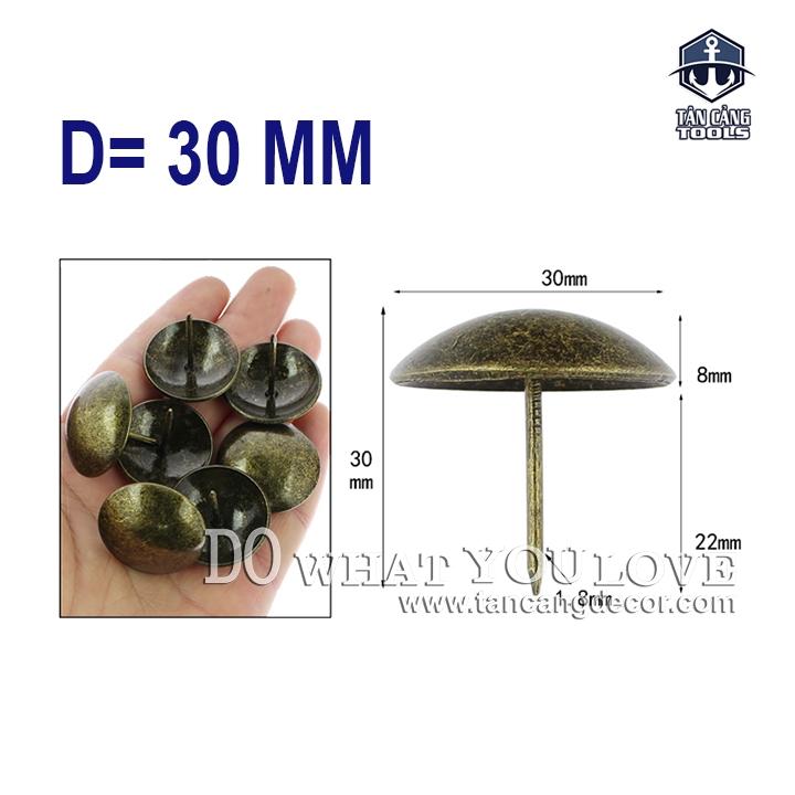 Đinh dù màu đồng D = 30mm